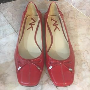 Anne Klein Sport Red Patent Leather Flats